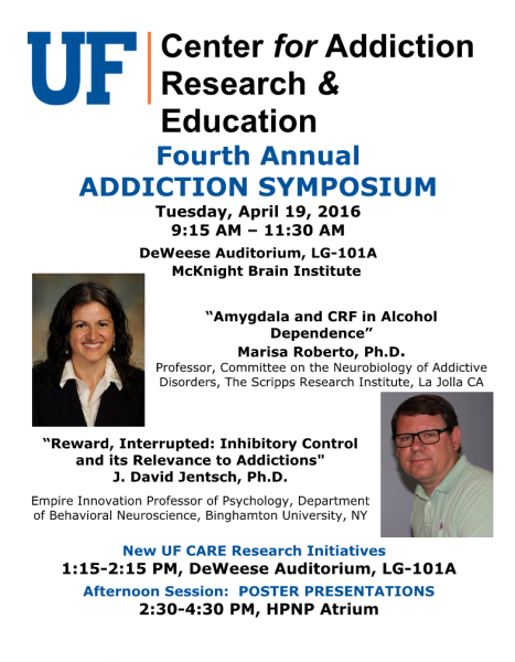 addiction research symposium university of florida 2016