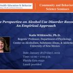Katie Witkiewitz – Community & Behavioral Science Seminars