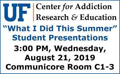 UF CARE Seminar - Summer Undergraduate Seminar Feature