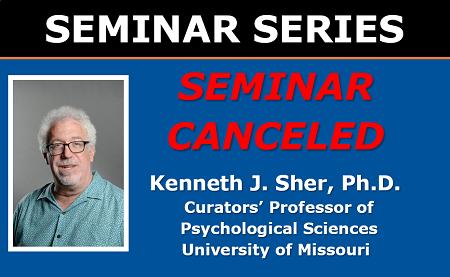 Canceled Seminar - Dr. Sher Seminar March 18 2020