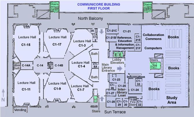 Communicore 1st Floor Map
