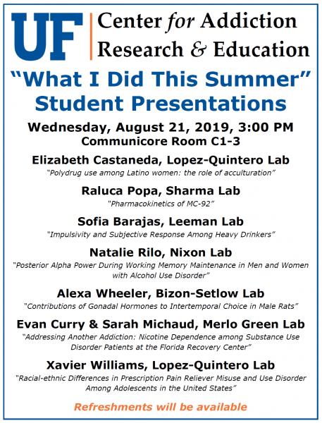 UF CARE Seminar - Summer Undergraduate Seminar