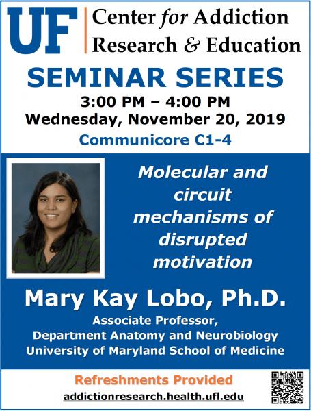112019 UF CARE SEMINAR - Mary Kay Lobo, Ph.D. - University of Maryland