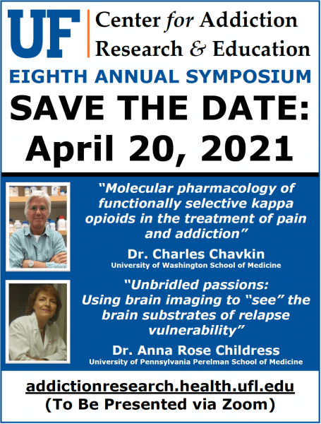 UF CARE Eighth Annual Symposium 2021 Save the Date Flyer